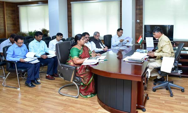west godavari,Review Meeting conducted by the Hon'ble C.M on 27.01.2015 at 11.00 AM with the Smt.P.Sujatha, Hon'ble Minister and with the following Officers: